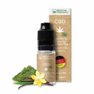 Breathe Organics CBD E-Liquid Vanille Matcha Grüner Tee kaufen