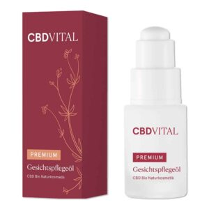 Premium Bio Kosmetik Gesichtspflegeöl 100mg CBD