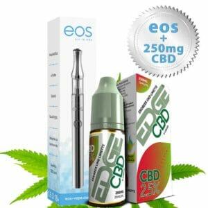 Starterset CBD Vape Pen von eos inkl. CBD Liquid Erdbeer-Limette 250 mg von Edge