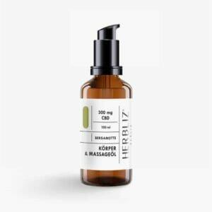 Herbliz Bergamotte CBD Massageöl 300mg CBD kaufen